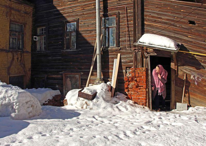 старые дома дворы зима нижний новгород Загляну в знакомый двор, как в забытый сон...photo preview
