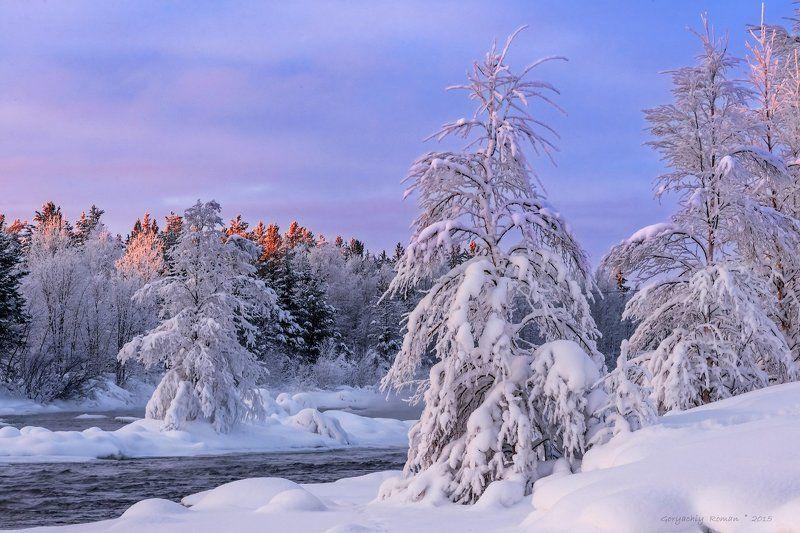 кольский, север,заполярье, пиренга, зима, *photo preview