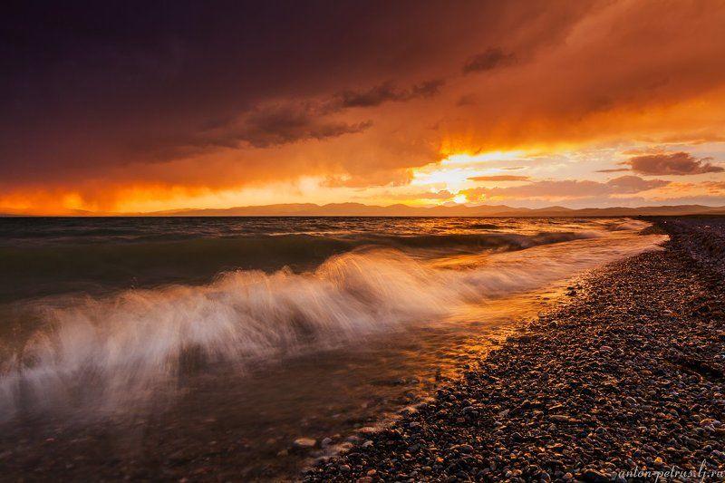 киргизия, закат, горы, небо, Сон-Кульphoto preview