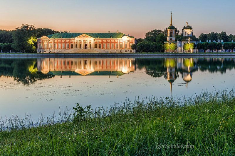 кусково, москва, парк, вечер, озеро, отражение Вечер в Кусковоphoto preview