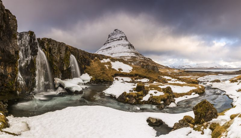 iceland kirkjufell waterfalls Kirkjufell panorama #2photo preview