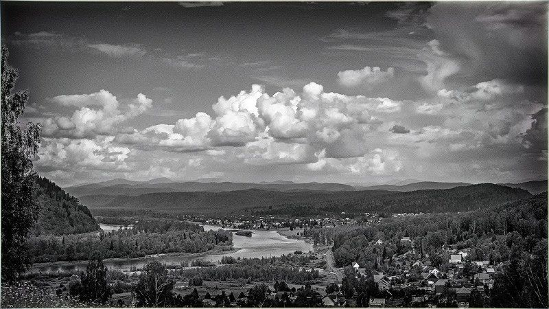 пейзаж, лето, река Излучина. photo preview