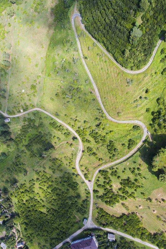 Абхазия, Кавказ, дрон, аэро, квадрокоптер, aerial Дороги в садахphoto preview