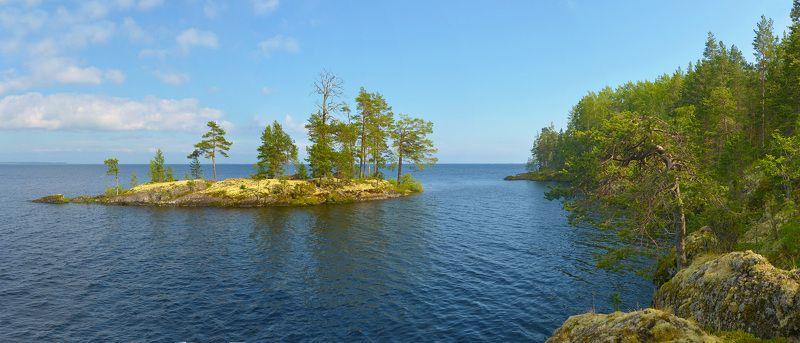 онежское озеро, остров, карелия В свободное плаваньеphoto preview
