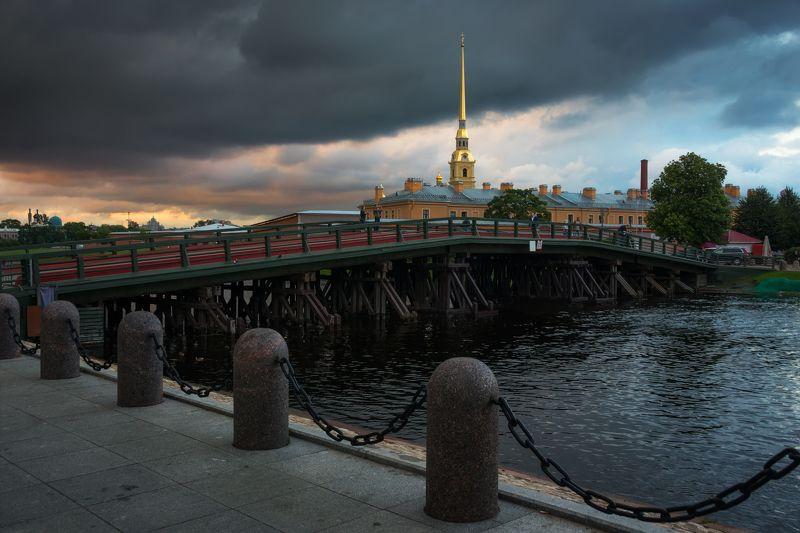 санкт-петербург, вечер, закат, петропавловская крепость Перед бурейphoto preview