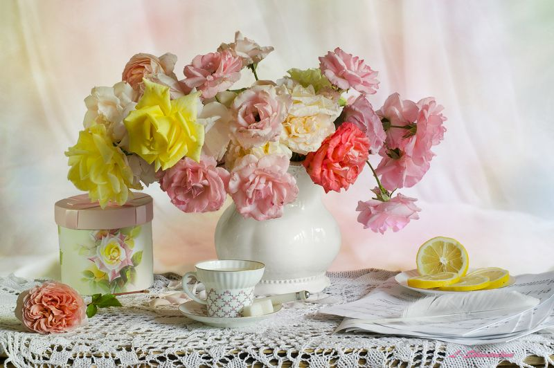 Чайных роз аромат по утру...photo preview