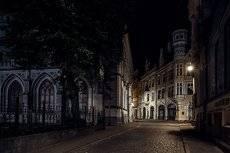 Ночью,в тихих улочках Риги