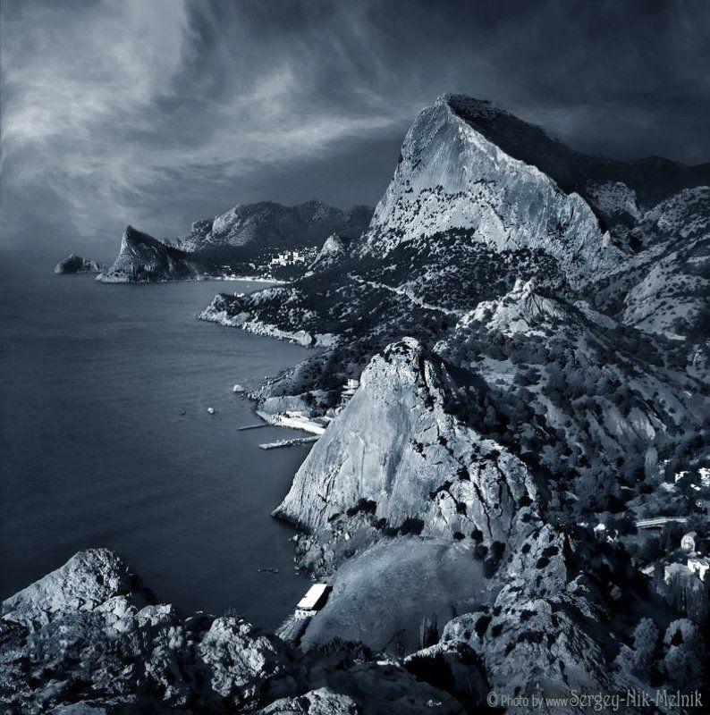 россия, крым, море, горы, скалы, судак, новыйсвет Скалистое побережье Крымаphoto preview