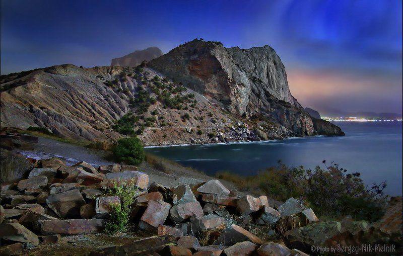 россия, крым, алушта, горы, судак, новый свет, море До ...наступления Нового Светаphoto preview
