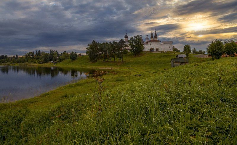 ферапонтово монастырь утро рассвет рассвет в Ферапонтовоphoto preview