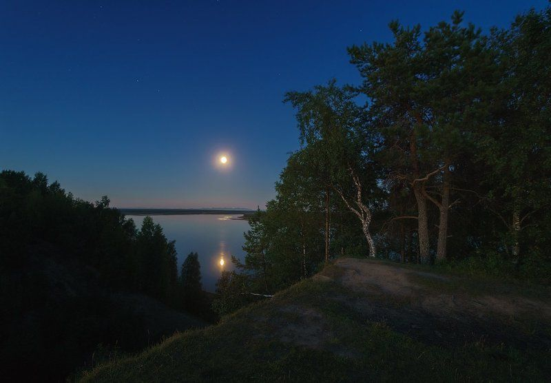 печора,коми,север,луна Ночная Печораphoto preview