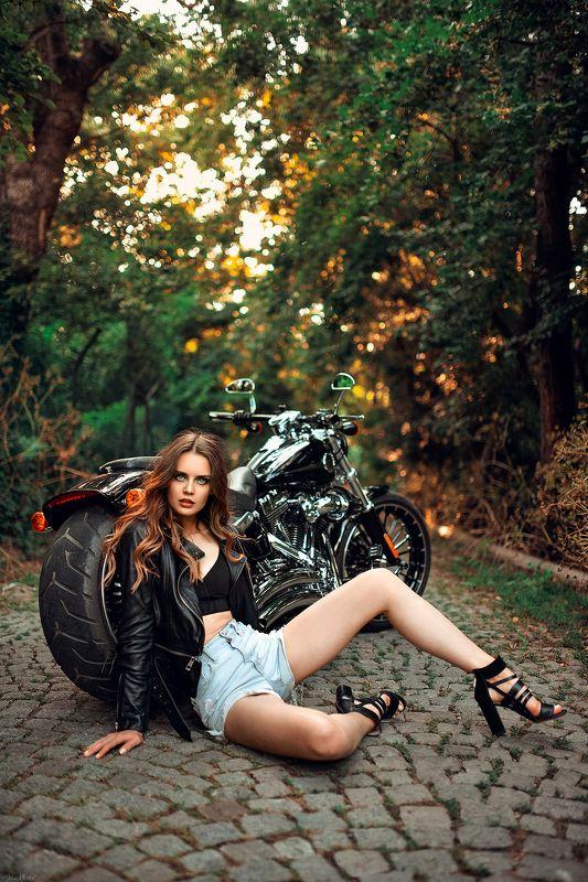 model, fashion, 35mm, eyes, hair, jacket, art, motorcycle, sunset, natural light, nikon, sigma, sigma35art, beauty, sexy, pretty, beautiful Tatianaphoto preview