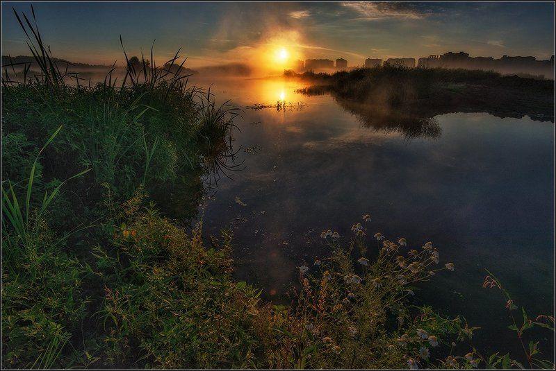 переделкино Туманным утром на прудуphoto preview
