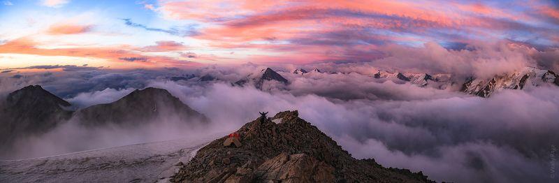 горы, закат, казахстан, алматы Закат в горах Алматыphoto preview