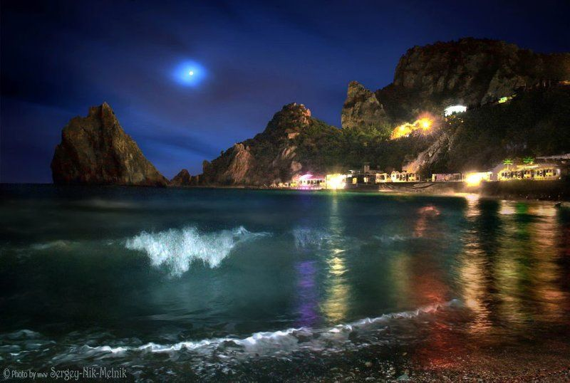 россия, луна,  горы, закат, симеиз, море Сказочный вечерок в Симеизеphoto preview