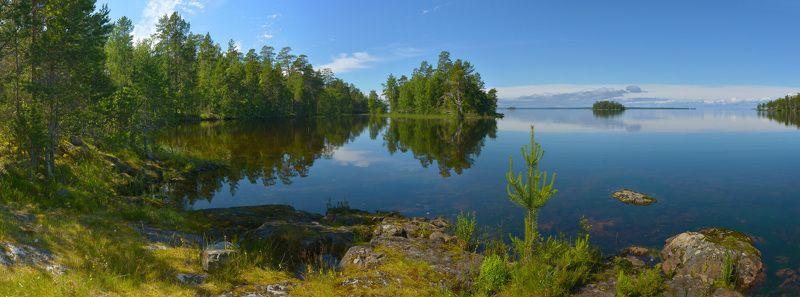 карелия, онежское озеро, шардонские острова, отражение В зеркале Онежского озераphoto preview