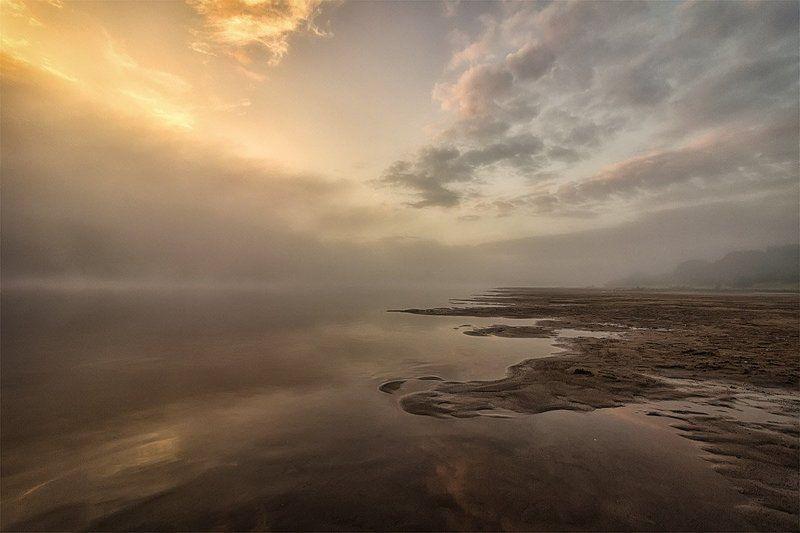 рассвет, туман, река, облака, рыбак Эпизод 1 Начало.photo preview