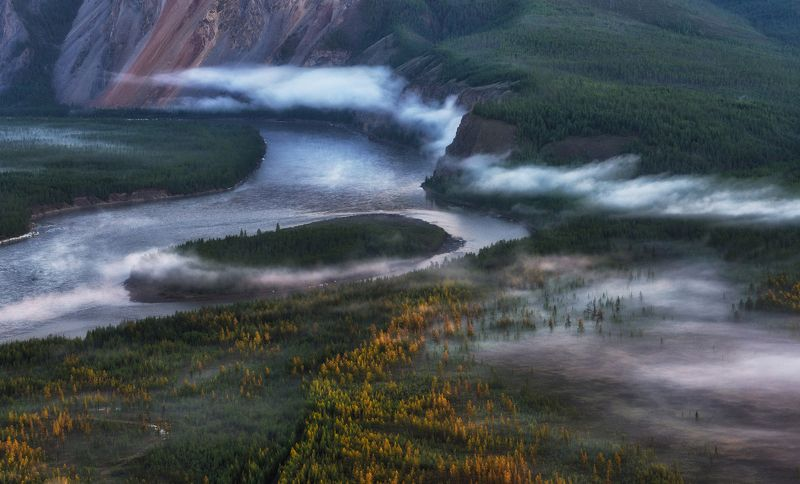 Якутия. Туман и запах тайги.photo preview