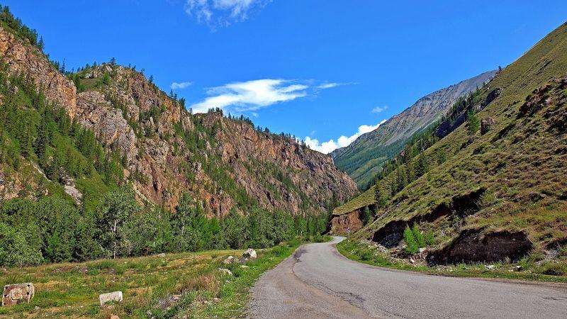 пейзаж, лето. горы, Горный Алтай  По ущелью. photo preview