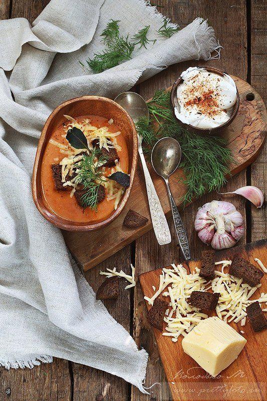 Овощной суп с сухарикамиphoto preview