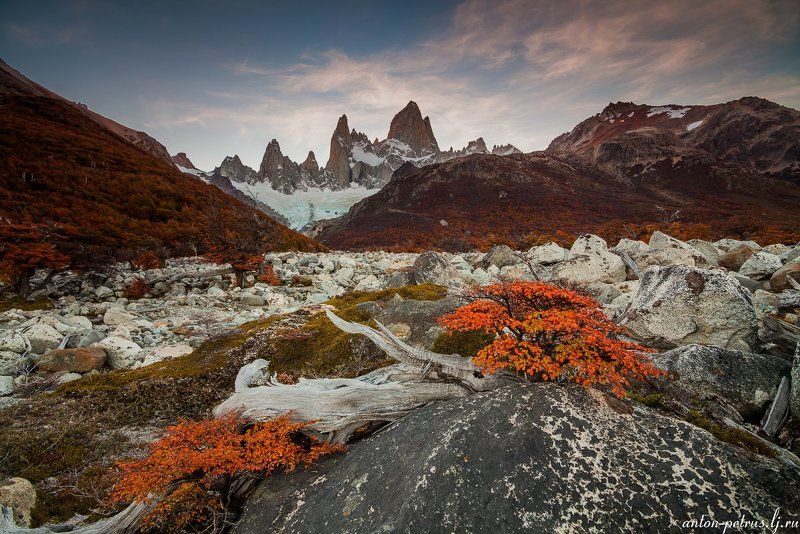 патагония, горы, рассвет, аргентина Мечтаphoto preview