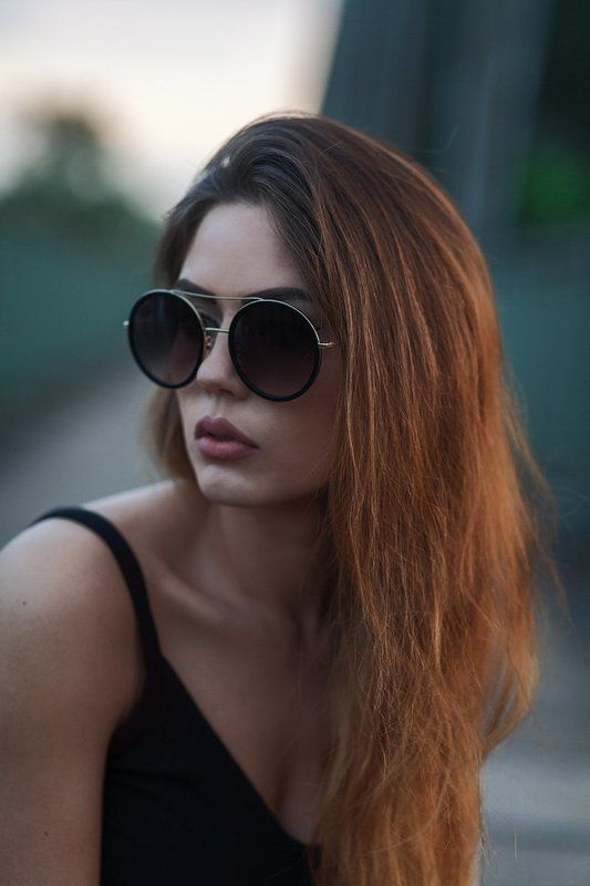 portrait, fashion, glasses, hair beauty Алисияphoto preview