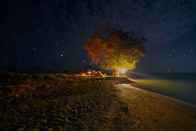 Ночной привал. Кайракумское море. Таджикистанphoto preview