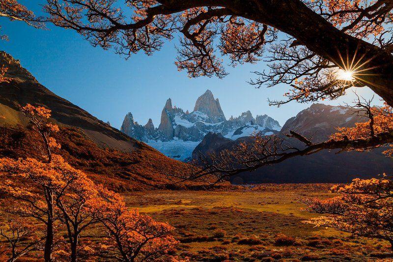 патагония, горы, закат, аргентина, Осень у Фитц Рояphoto preview