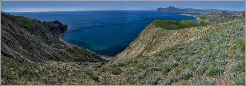 крым, весна, горы, море, панорамы Над синим просторомphoto preview