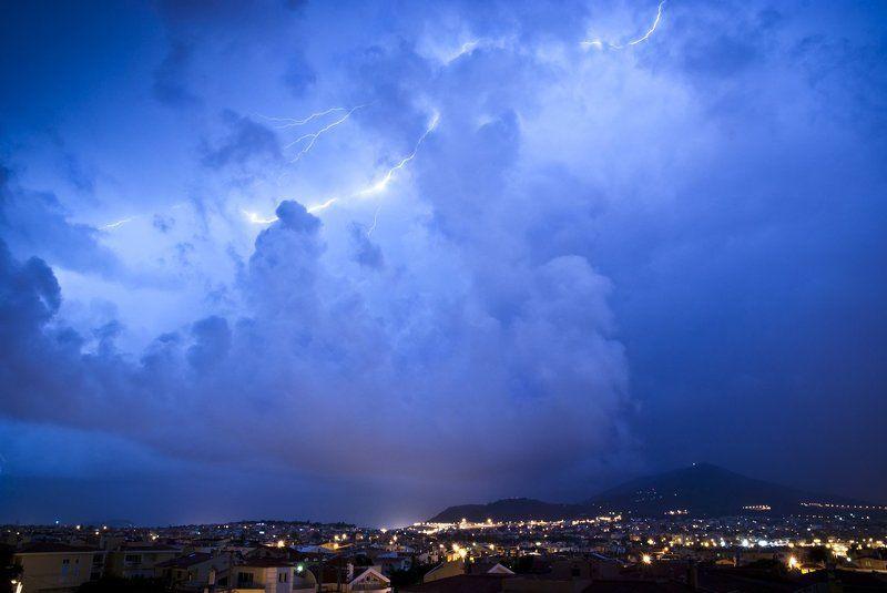 night, greece, athens, imitos, lightning Night lightnings 2photo preview