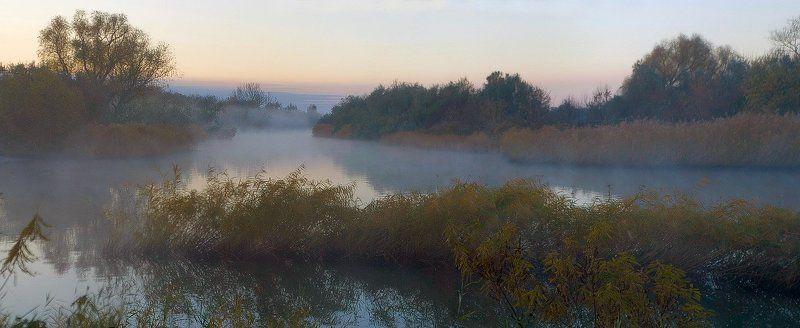 дон, лагутник, осень Лагутник. Ноябрь. Утро. Туман на реке.photo preview