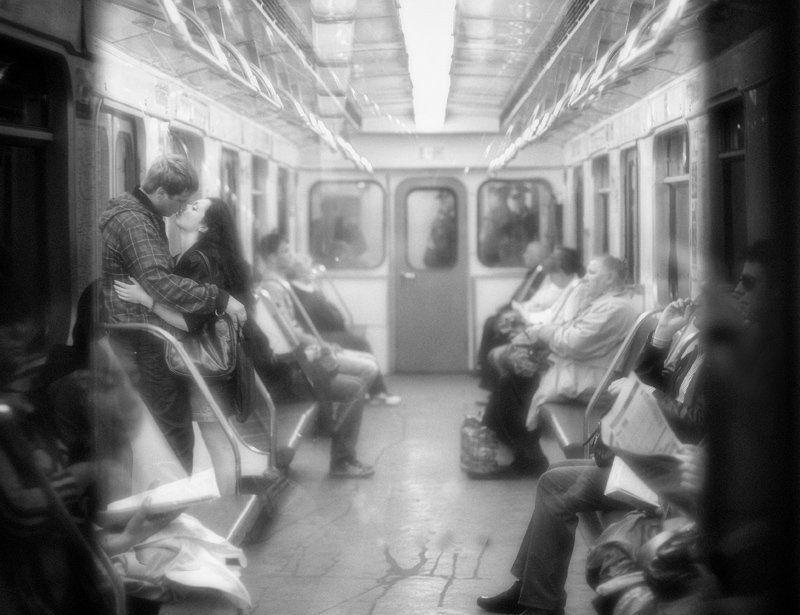 метро, люди \