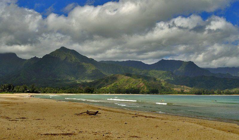 пейзаж, море, пляж, hanalei Hanalei Beachphoto preview