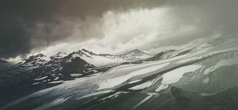 пейзаж, горы, Эльбрус, небо, снег, скала, природа, Кавказ Road to Nowherephoto preview