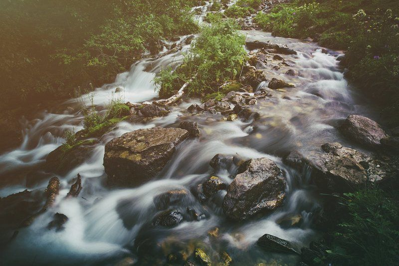 вода, пейзаж, природа, река, Кавказ, горы At the Sourcephoto preview