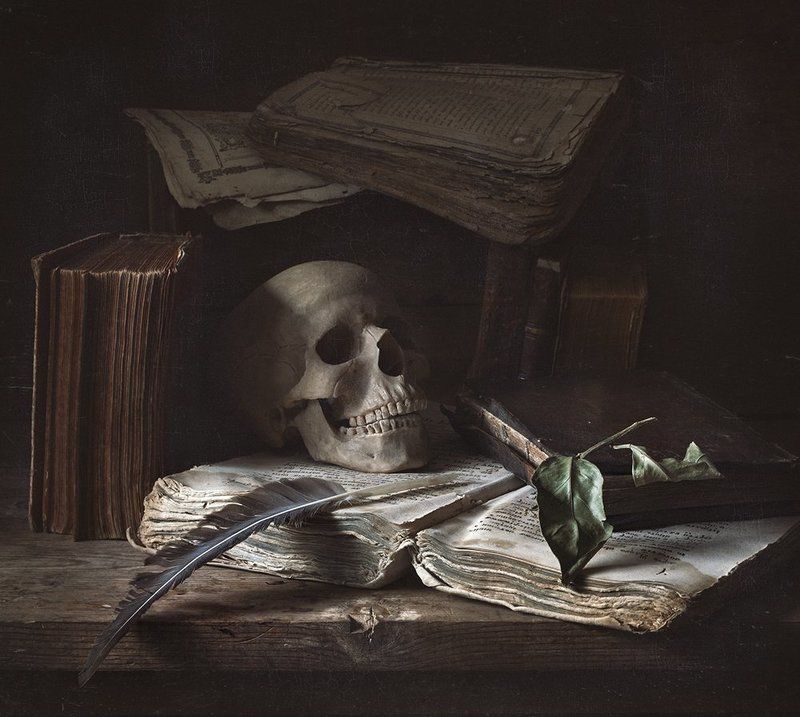 натюрморт, книги, still life Vanitas (суета сует)photo preview