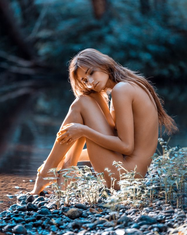 girl, female, pretty, nude, nature, model, body, outdoors Afternoon by the riverphoto preview