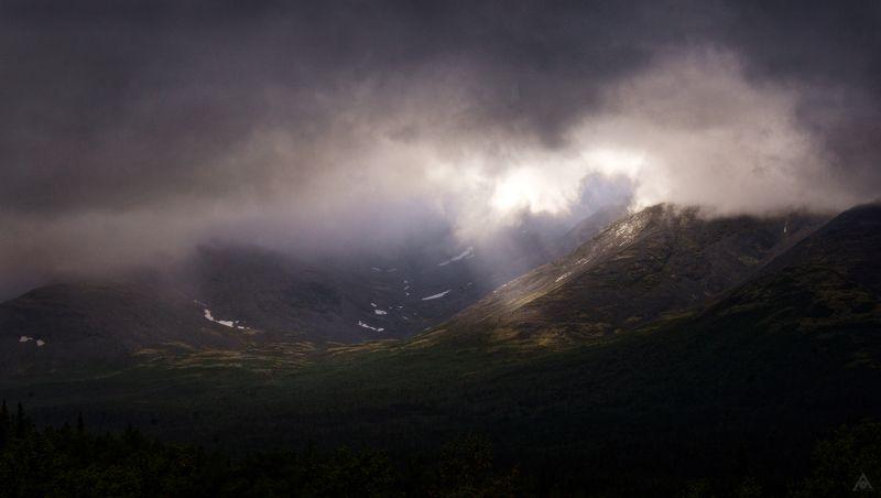 хибины, ущелье, свет Солнечное ущельеphoto preview