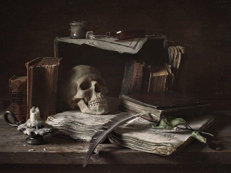 still life, натюрморт, vanitas, scul, череп Vanitas (суета сует) version 2photo preview