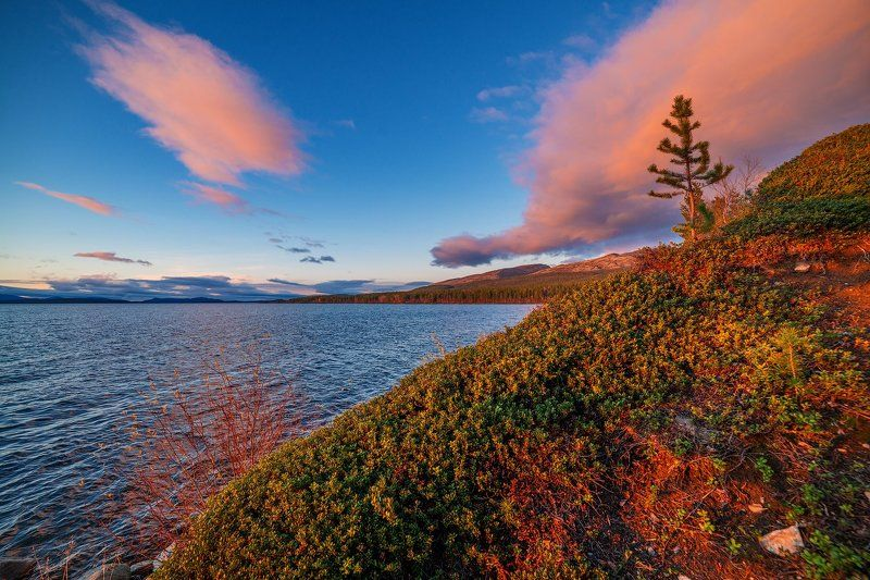 кольский, север,заполярье, хибины, лето,вечер,сопка,имандра,осень, На севере.photo preview
