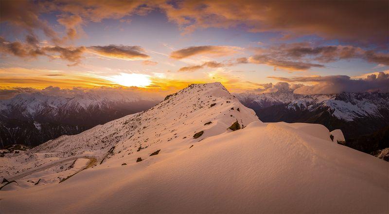 закат в горах Сванетиphoto preview