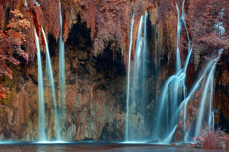 природа, ландшафт, национальный парк, пейзаж, хорватия, юнеско, водопад, озеро. Водопады Плитвицких озерphoto preview
