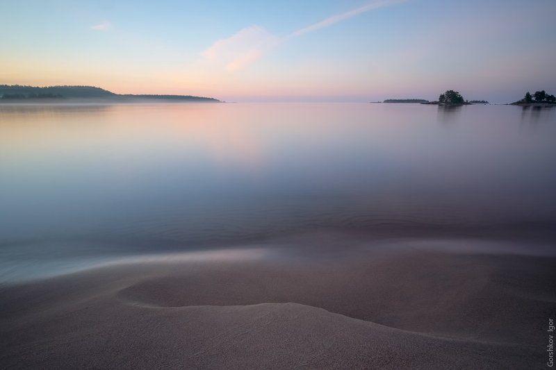 ладога,пейзаж,природа,утро,рассвет,волна,берег,россия,озеро,длинная выдержка Память о волнеphoto preview