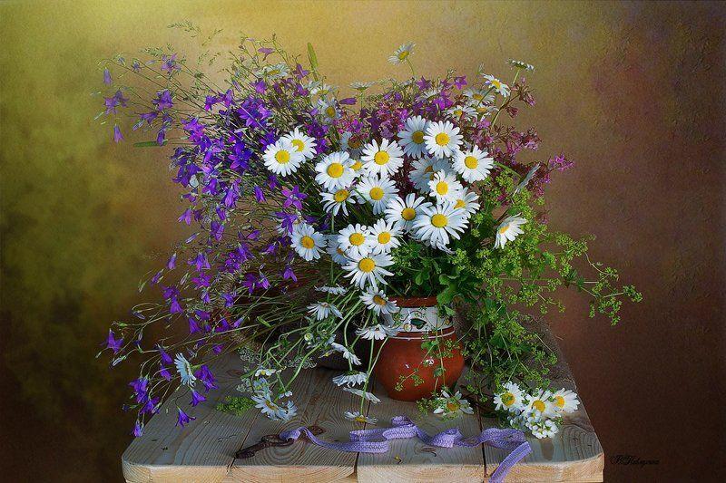 ромашки,колокольчики,полевые цветы,вера павлухина,лето, Полевые цветыphoto preview