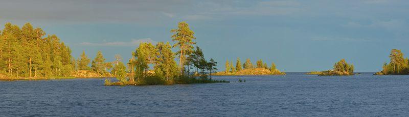 онежское озеро, шардоны, закат, острова, архипелаг шардоны Шардоныphoto preview