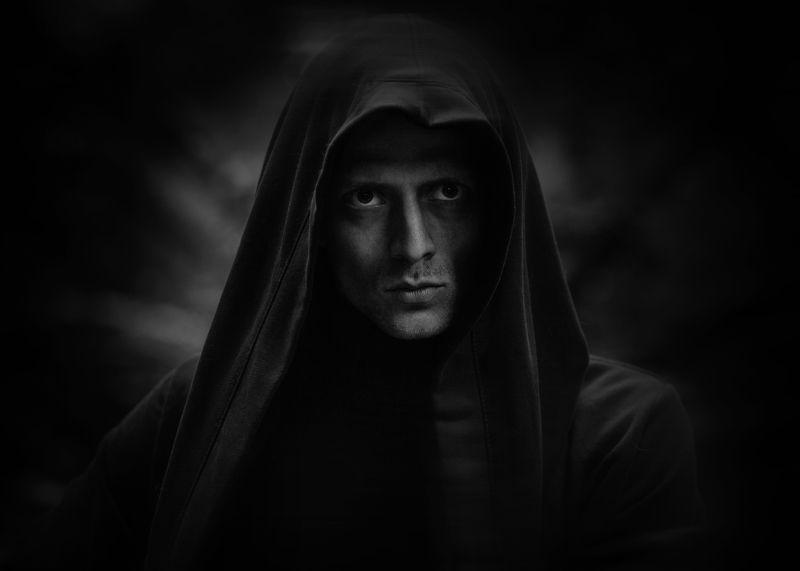 чб портрет черный темный лорд Темный лордphoto preview