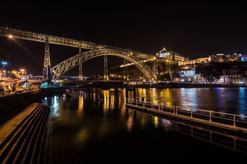 oporto, portugal, night, landscape, cityscape, colors, light´s, reflections, beautyful, city Oporto at nightphoto preview