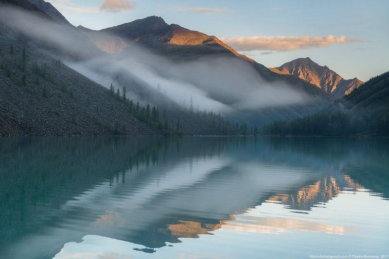 алтай, сибирь, siberia, лето, шавлинские озера, altai, утро, рассвет, бирюза Обвитое туманамиphoto preview