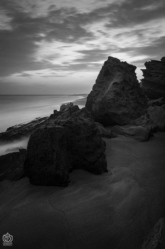 longexposure,canon80d,beach,sea,nature,blackandwhite,light,dark,sky,clouds,canon,photo,photographer Rocky beachphoto preview