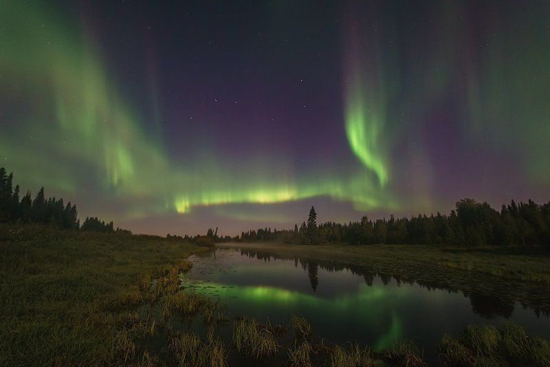 печора,коми,север,северное,сияние Ночной свет севераphoto preview